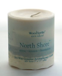 "North Shore 3 x 3"" Soy Pillar"