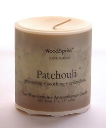"Patchouli 3 x 3"" Soy Pillar Candle"