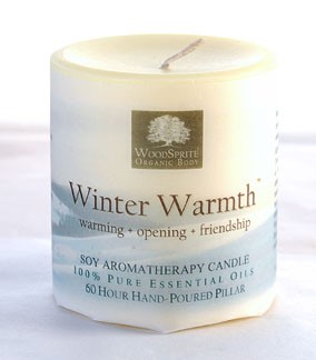 "Winter Warmth 3x3"" Pillar Candle"
