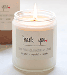Thank You Soy Aromatherapy Candle - 8 oz.