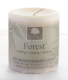 "Forest 3x3""  Soy Pillar Candle"